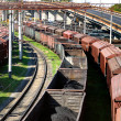 View on the railway transport centre - Stock Photo