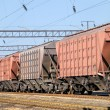 Transportation of cargoes by rail - Stock Photo