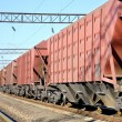 The train with cars for dry cargo — Stock Photo #12117155
