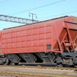 Stock Photo: Railway cars for various cargoes