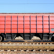Stock Photo: Train with cars for dry cargo