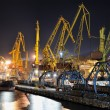 Night view of industrial port and ship — Foto Stock #12117883
