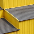 Yellow siding wall and roof — Stock Photo