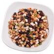 The plate with various bean - Stock Photo