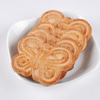 The cookies on a plate — Stock Photo