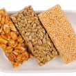 Royalty-Free Stock Photo: Honey bars with peanuts, sesame and sunflower seeds