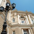 Architectural details. palace and lantern — Stock Photo
