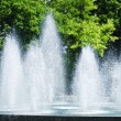Splashing fountain — Stockfoto
