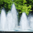 Splashing fountain — Stock Photo