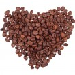 Grains of coffee in the form of heart — Photo