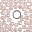 Beads from pearls on a white background — Stock Photo #12118833