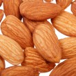 Pile of almonds nuts isolated - Stock Photo