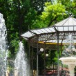 Stock Photo: City park with fountains