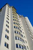 Facade of a new many storeyed condominium — Stock Photo