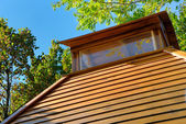 Wooden roof of a small house of rest — Stock Photo