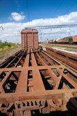 Obsolete historic railway carriage — Stock Photo