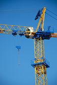 New blue construction crane — Stock Photo