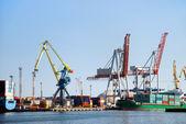 Cargo loading in port — Stock Photo