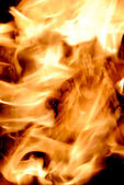 Close up of fire and flames — Stock Photo