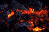 Closeup of the burning charcoal — Stock Photo