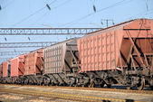 Transportation of cargoes by rail — Stock Photo