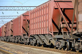 The train with cars for dry cargo — Stock Photo