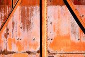 De roestige achtergrond uit ijzer — Stockfoto