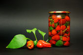 Canned red pepper — Stock Photo