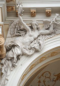 Medieval sculpture of a woman angel — Stock Photo
