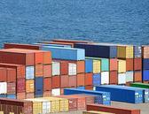 Armazém com contentores marítimos — Foto Stock