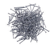 A handful of nails isolated — Stock Photo