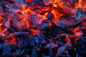 Background from the burning charcoal — Stock Photo