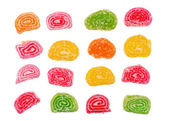Set of candied fruit jelly — Stock Photo