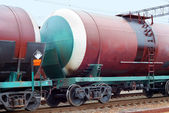 Transportation oil on railroad — Stock Photo