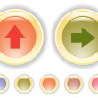 Vector buttons with arrow icon - Stock Vector