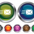 Vector collection icons with speed mail sign, empty button inclu — Stok Vektör