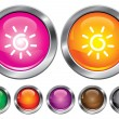 Stock Vector: Vector collection icons with sun sign, empty button included