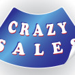 Crazy sales sticker in a vector format — Stock Vector #12115483