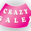 Crazy sales sticker in a vector format — Stock Vector #12115485