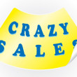 Stock Vector: Crazy sales sticker in a vector format