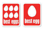 Illustration of a best eggs with the text — Stock Vector