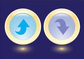 Vector buttons with arrow icon — Stock Vector