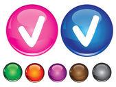 Vektorové ikony s zkontrolovat znamení — Stock vektor