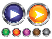Vector icons with play sign, empty button included — Vector de stock
