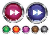 Vector iconos colección con señal hacia adelante, botón vacío incluido — Vector de stock