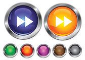 前方記号、空のボタンが含まれているコレクションのアイコンをベクトルします。 — ストックベクタ