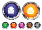 矢量集合与邮件标志,包括空按钮的图标 — 图库矢量图片