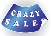 Crazy sales sticker in a vector format — Vector de stock
