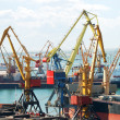 The trading seaport with cranes and ships — Stock Photo #12120512