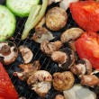 The vegetables barbeque prepares on fire — Stock Photo